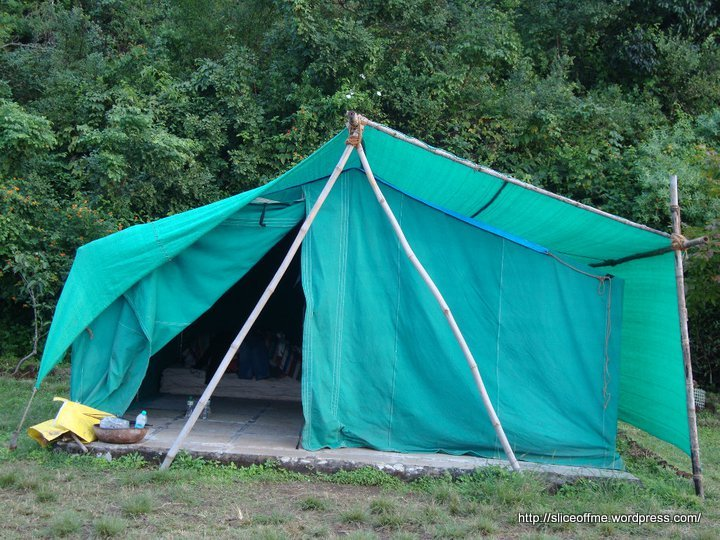 A typical Tent at Eco Camps - Panchgani
