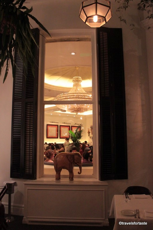 A peek into the stunning dining room at Bombay Brasserie