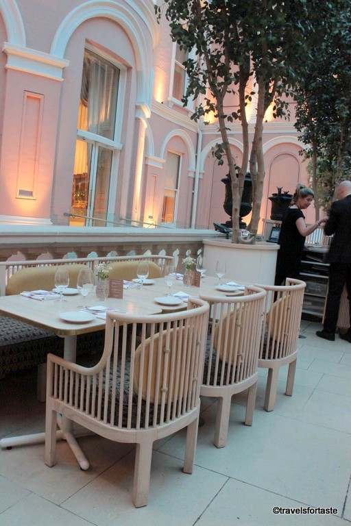 The seating arrangement at the restaurant at The Wallace Collection