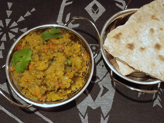 Dhal and chapati by The Veg Hog