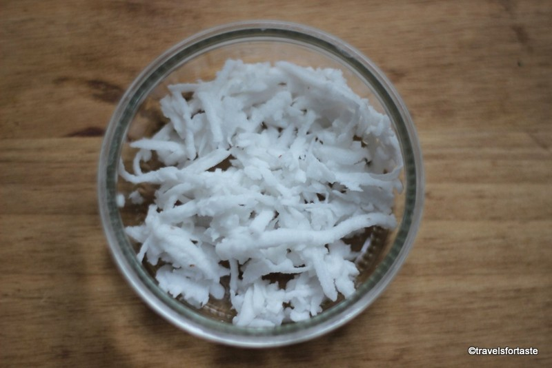 Frozen ready grated coconut