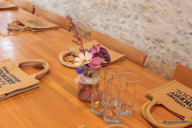 Table decor at River Cottage