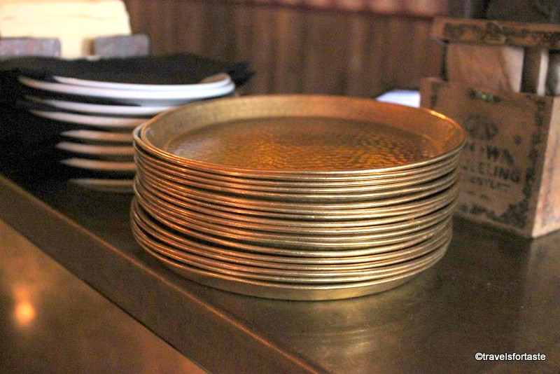 Hammered copper plates - Hoppers