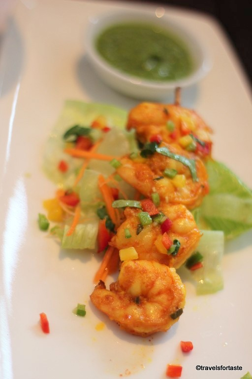 Tiger Prawns starter - Shampan at the Spinning Wheel