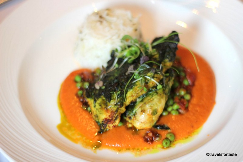 Punjabi red spiced chicken breast - Shampan at the Spinning Wheel