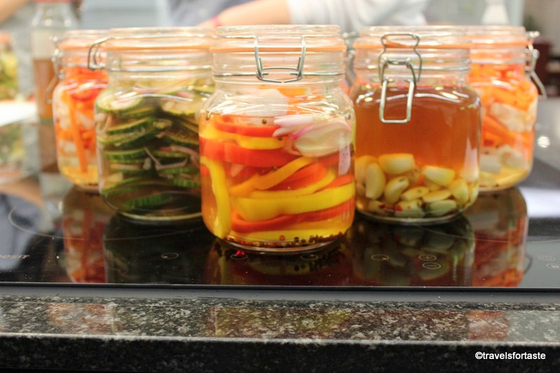 Sarsons Pickles in Kilner Jars