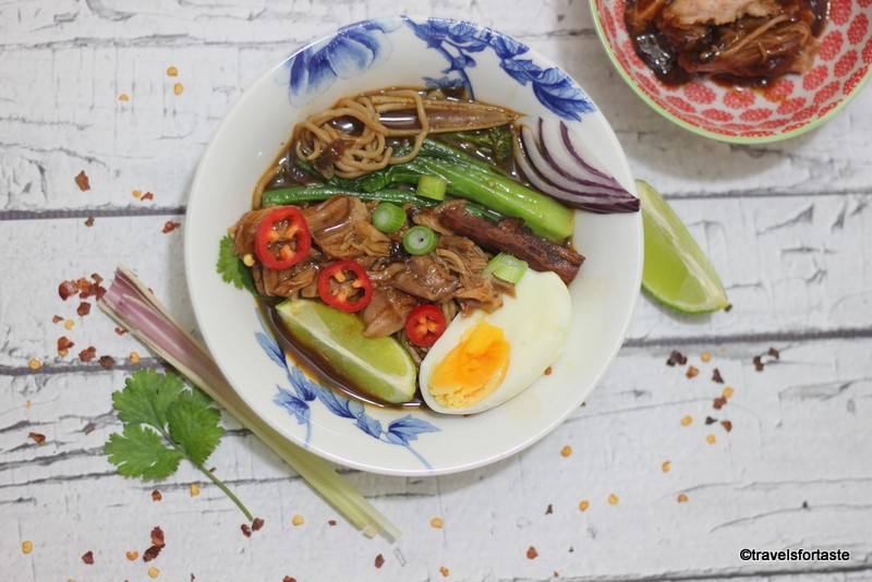 BBQ Pulled Pork spicy noodle soup