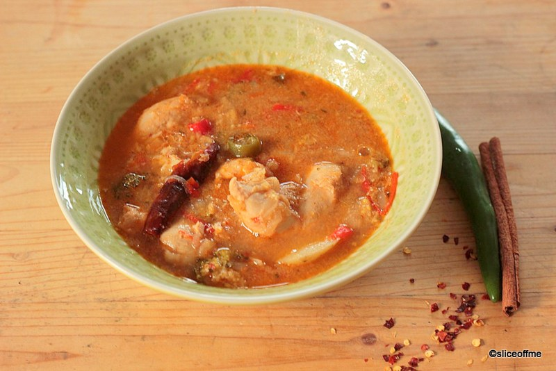 Chicken and Red Lentil Stew – a complete ONE POT meal (Suran & Red Lentil Stew)