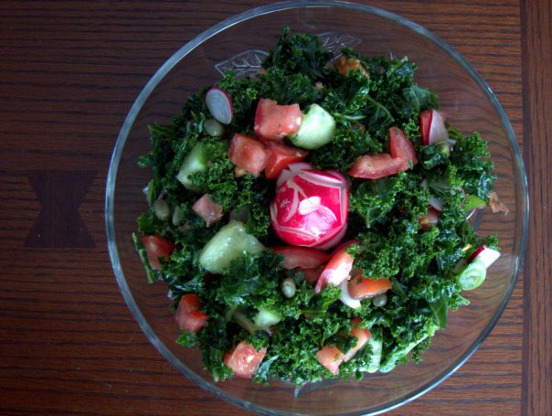 spring kale salad by Janet at The taste space