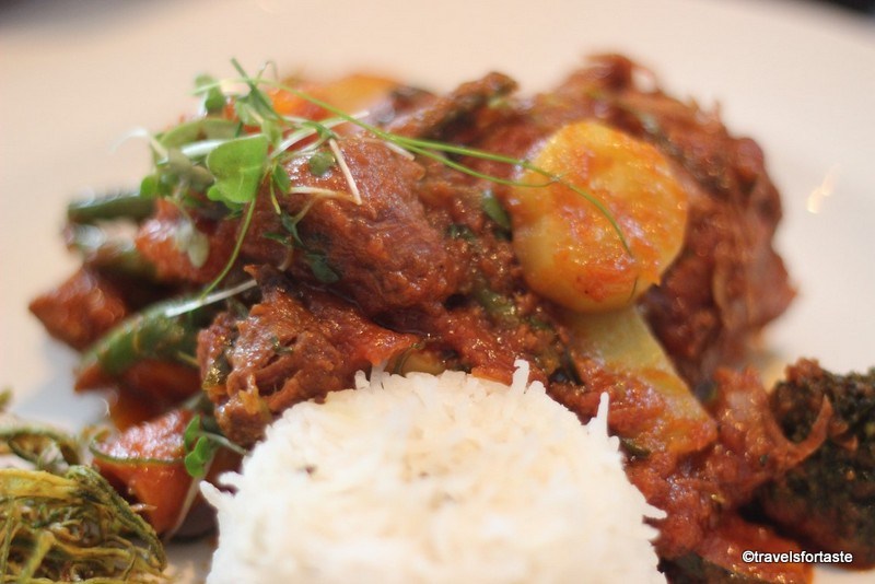 Hyderabadi spiced lamb shanks & Pilau rice at Shampan the Spinning Wheel