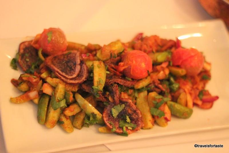 Chakra on Holland Street - Purple Potato and ivy gourd