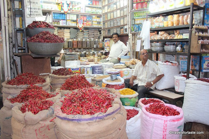 Pune, India - spice market