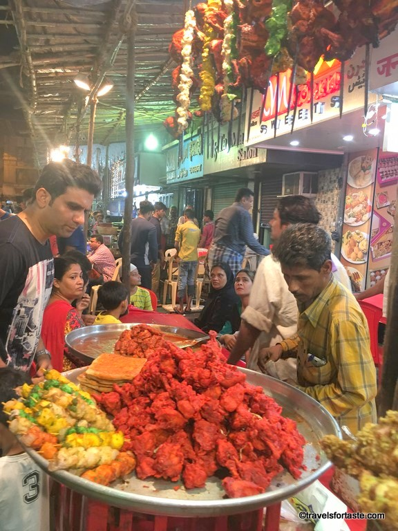 Vibrant, colourful and bustling - Street Food market at Mohammed Ali Road, Mumbai during Ramadan